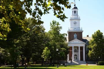 Gilman Hall on Johns Hopkins University's Homewood campus